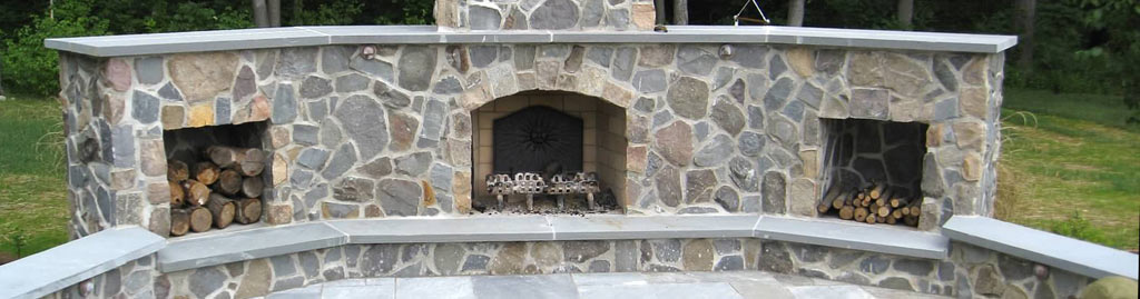Fire place by Turpin Landscaping