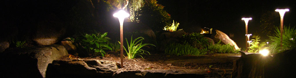 Landscape lighting by Turpin Landscaping