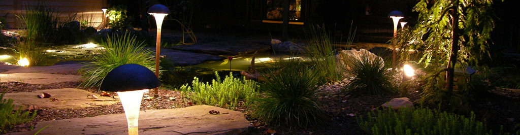 Outdoor lighting by Turpin Landscaping