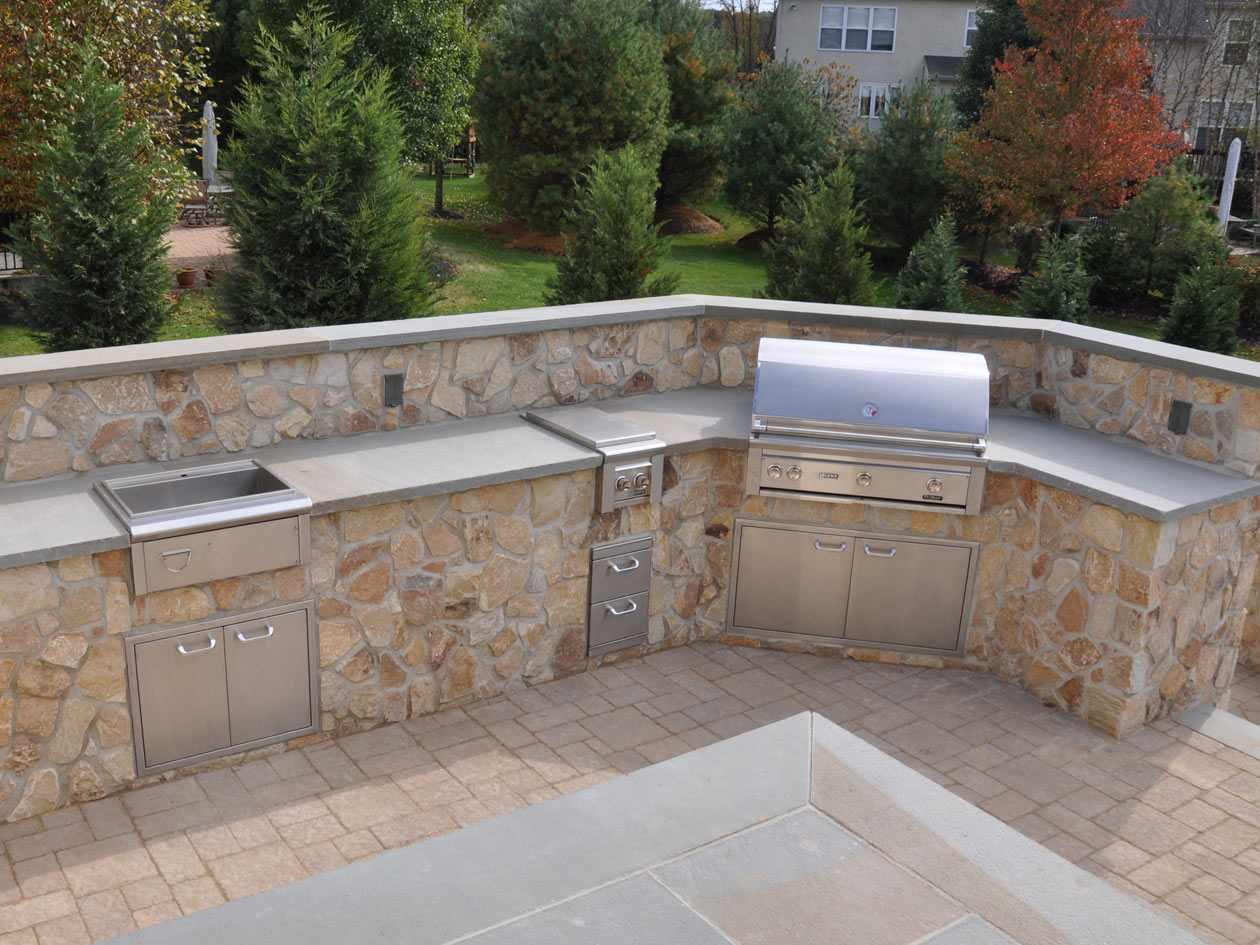 Hardscaping masonry pictures turpin landscaping - Cucina in muratura da esterno ...
