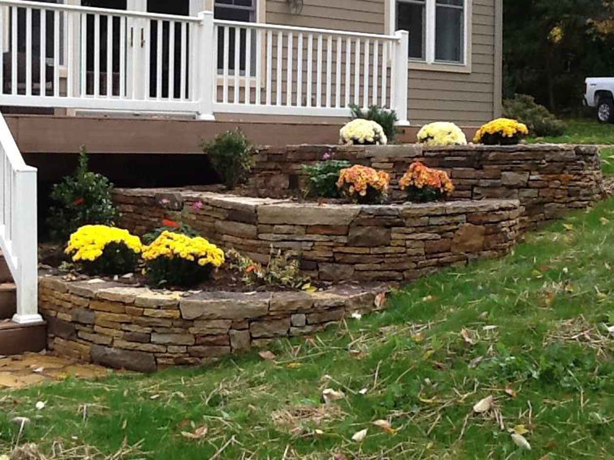 pics photos retaining wall landscaping