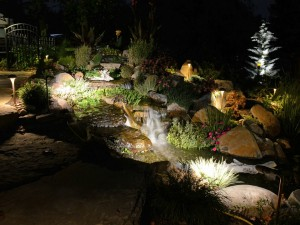 landscape lighting design in Chester County